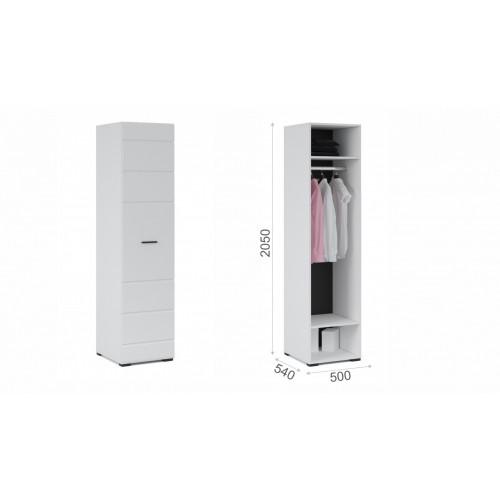 Распашной шкаф Йорк 1дв Белый/белый глянец к Стенке ЙОРК
