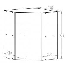 Шкаф 580 угловой