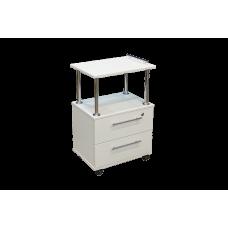 Этажерка 2 ящика Белый