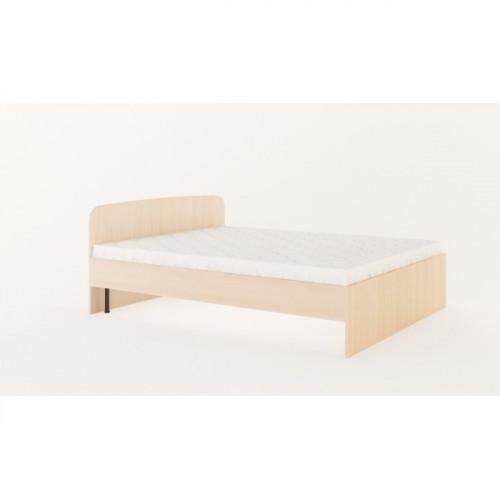 Кровать 1400х2000 с ортопедическим основанием (без матраца), Беленый дуб