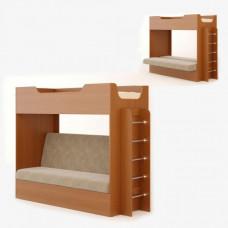 Кровать двухъярусная с диваном (без матраца), Бук