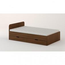 Кровать с ящиками 1200 (без матраца), Орех