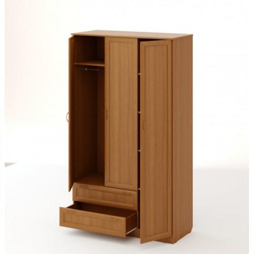 """Шкаф распашной 3хстворчатый с 2 ящиками """"Рамочный"""", Бук"""