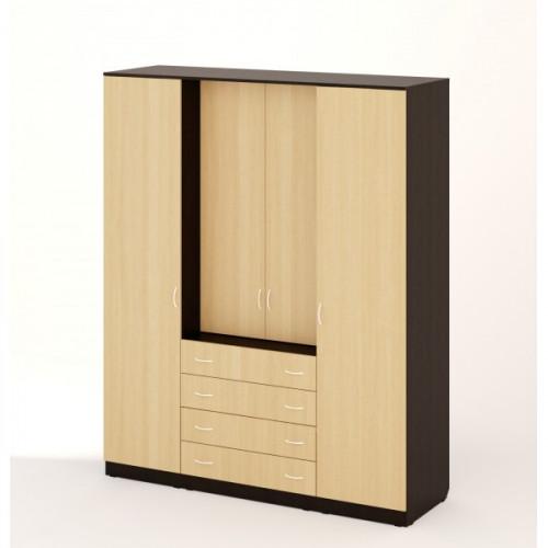 Шкаф с комодом, Венге/беленый дуб